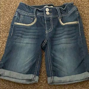 Girls Mudd denim shorts sz 10